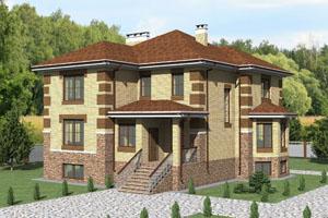 Проекты трехэтажных коттеджей
