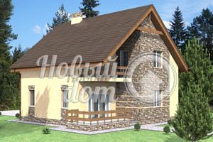 Частный двухэтажный дом 10 на 10 метров
