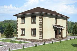 Проект простого двухэтажного дома