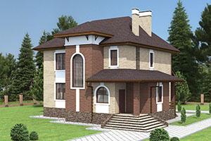Проект большого дома из газобетона