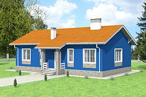 Проект одноэтажного небольшого дома