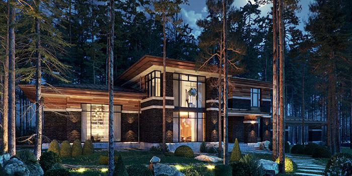 архитектурный стиль Райта в частном домостроении