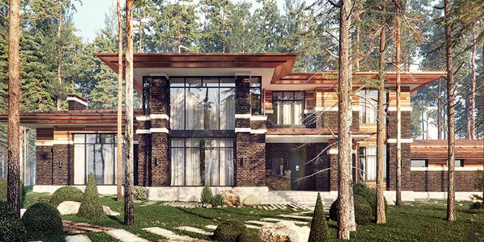 проект дома дома в лесу