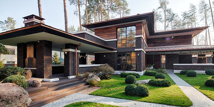 большой красивый частный дом в современном стиле