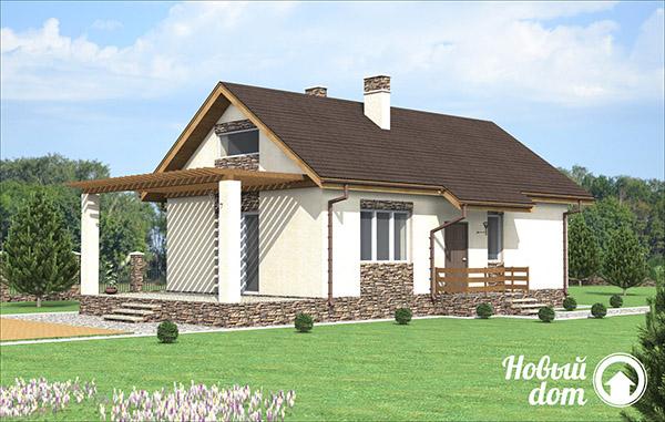 Проект небольшого одноэтажного дачного дома