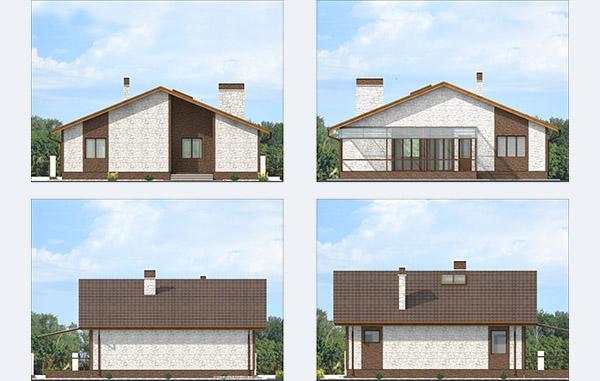 Проект одноэтажного дома со вторым светом