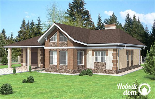 Проект дома соединенного с гаражом