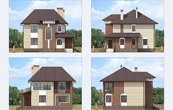 Проектирование двухэтажного дома из газобетона
