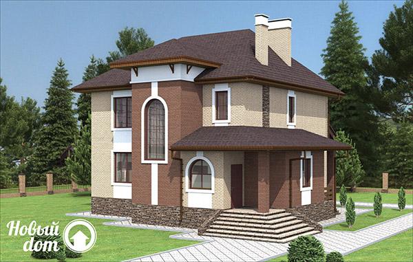 Проектирование двухэтажного дома из газобетона и кирпича