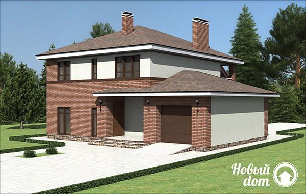 Проектирование двухэтажного дома с гаражом