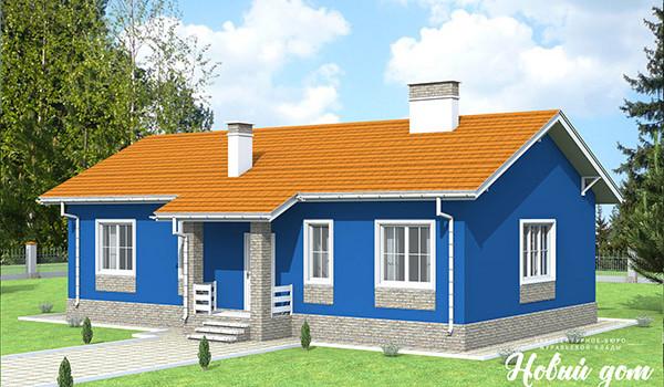036. Проект небольшого одноэтажного дома