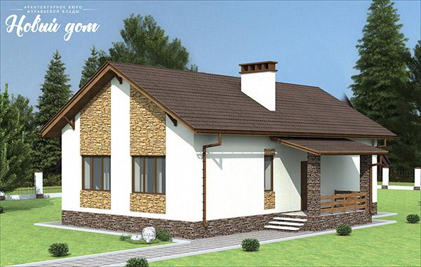 Проект одноэтажного дома с двумя спальными