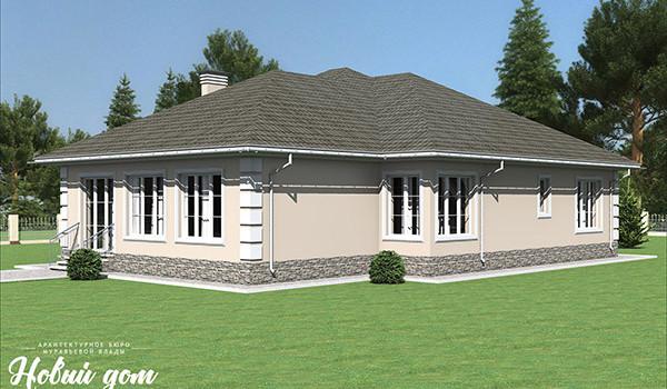 039. Проект большого одноэтажного дома
