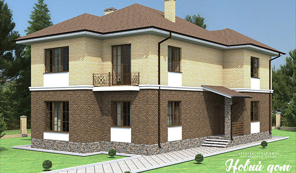 040. Проект узкого двухэтажного дома