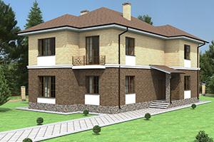 Удобный двухэтажный дом