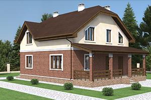 Проектирование двухэтажного коттеджа с террасой