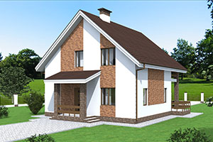 Небольшой удобный частный дом