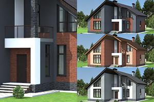 Разработка планировок небольшого двухэтажного дома из газобетона в Самаре