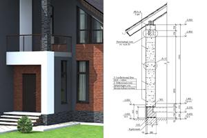 Двухэтажный дом из газобетона в Самаре. Часть 4. Разработка конструктивного раздела