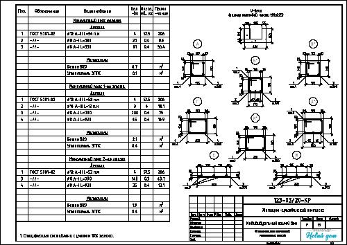 Спецификация монолитного пояса